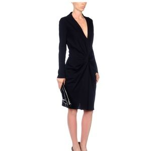 Lanvin NAVY twist-front dress